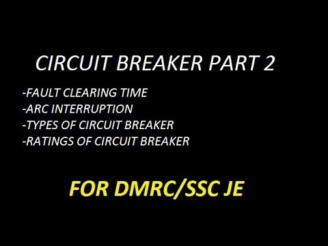 CIRCUIT BREAKER CLASSIFICATION !! RATINGS !! ARC INTERRUPTION!! thumbnail