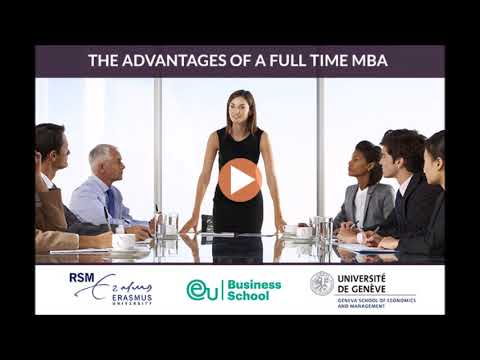"A roundtable discussion on the topic ""The Advantages of a Full-Time MBA"""