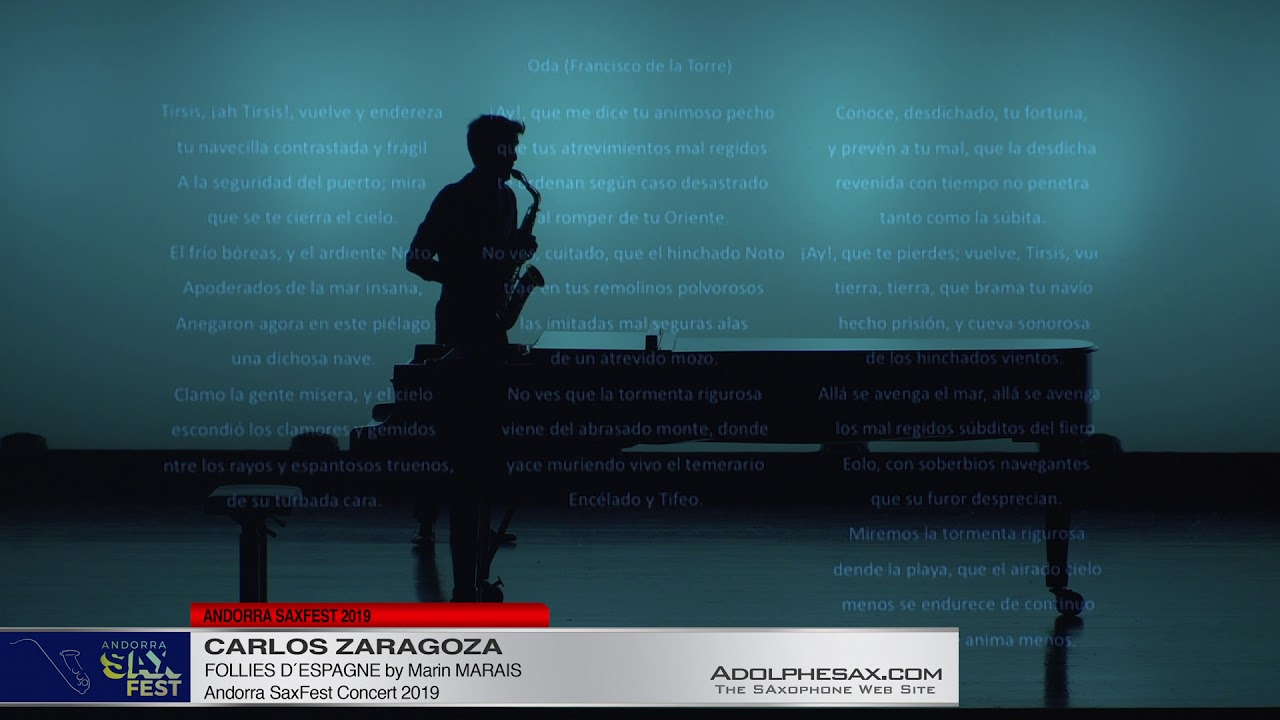 Andorra Saxfest 2019   Carlos Zaragoza   Folies d´Espagne 2 by Marin Marais