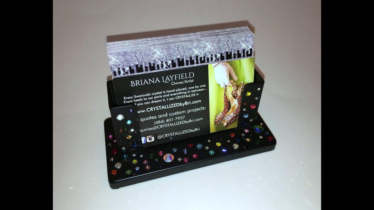 Swarovski crystal bling business card holder crystallized by swarovski crystal bling business card holder crystallized by crystallzed by bri colourmoves
