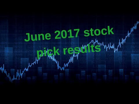 Tracking the performance of my June 2017 stock picks