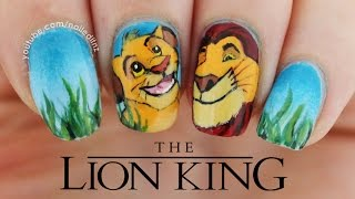 THE LION KING | Handpainted Nail Art Tutorial | Nailed It NZ