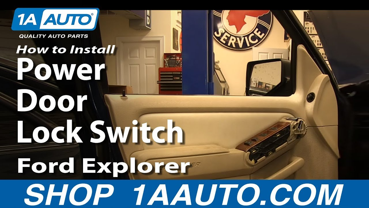 How To Replace Power Door Lock Switch 06 10 Ford Explorer Youtube