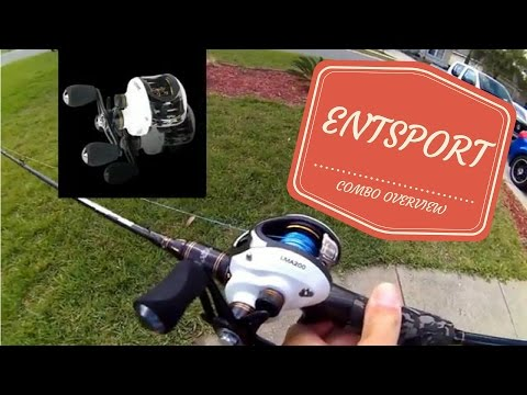 Entsport Baitcasting Fishing Rod and Reel Combo Overview (LMA200)