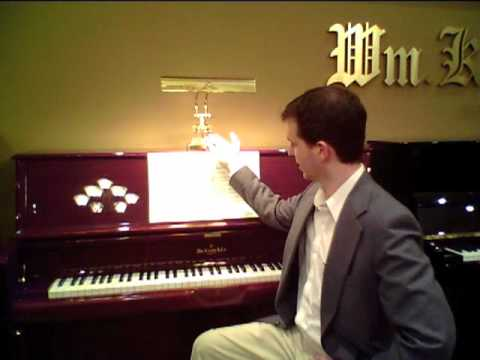 Demo of Lamps for Upright Pianos - House of Troy - YouTube