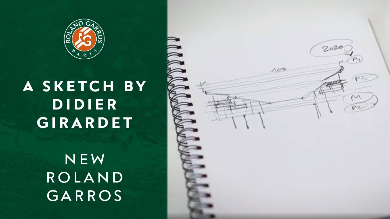 A sketch by Didier Girardet | New Roland Garros