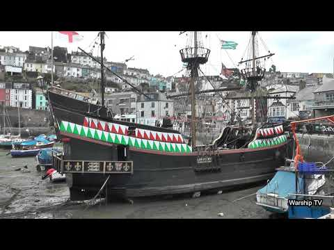 A TOUR AROUND SIR FRANCIS DRAKE'S GALLEON 'THE GOLDEN HIND' AT BRIXHAM HARBOUR - 28th September 2018