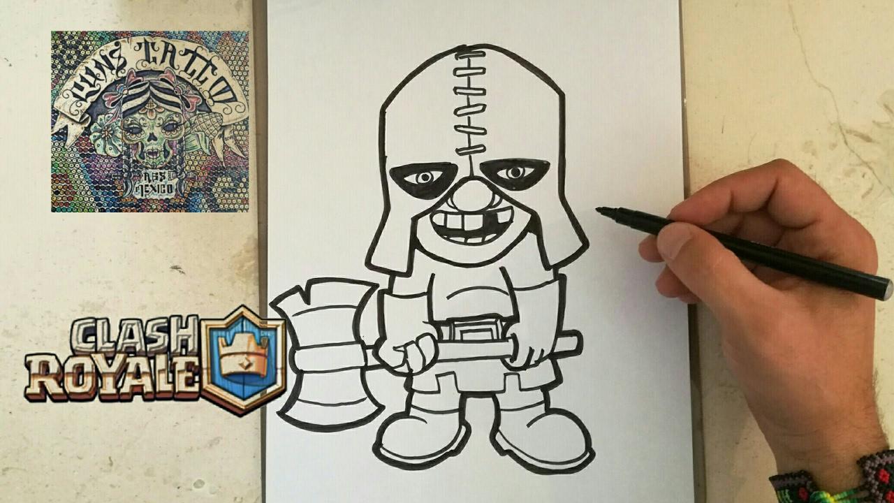 Dibujos Para Dibujar De Clash Royale: COMO DIBUJAR AL VERDUGO