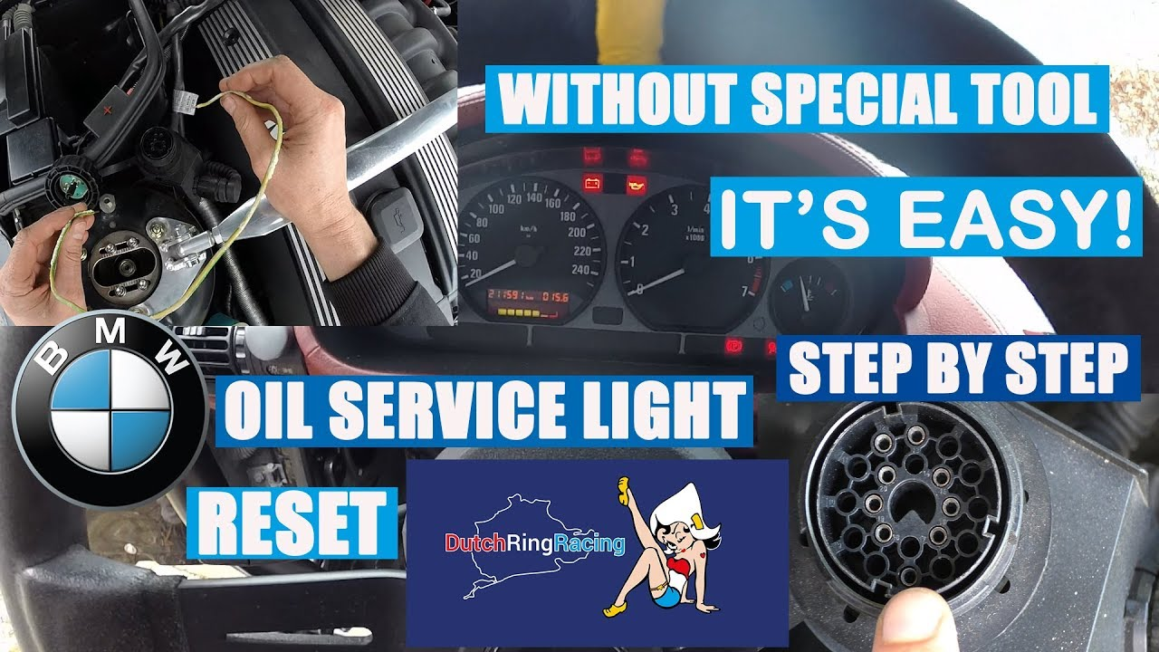 How To Reset Bmw Oil Service Light Without Special Tool E30 E34