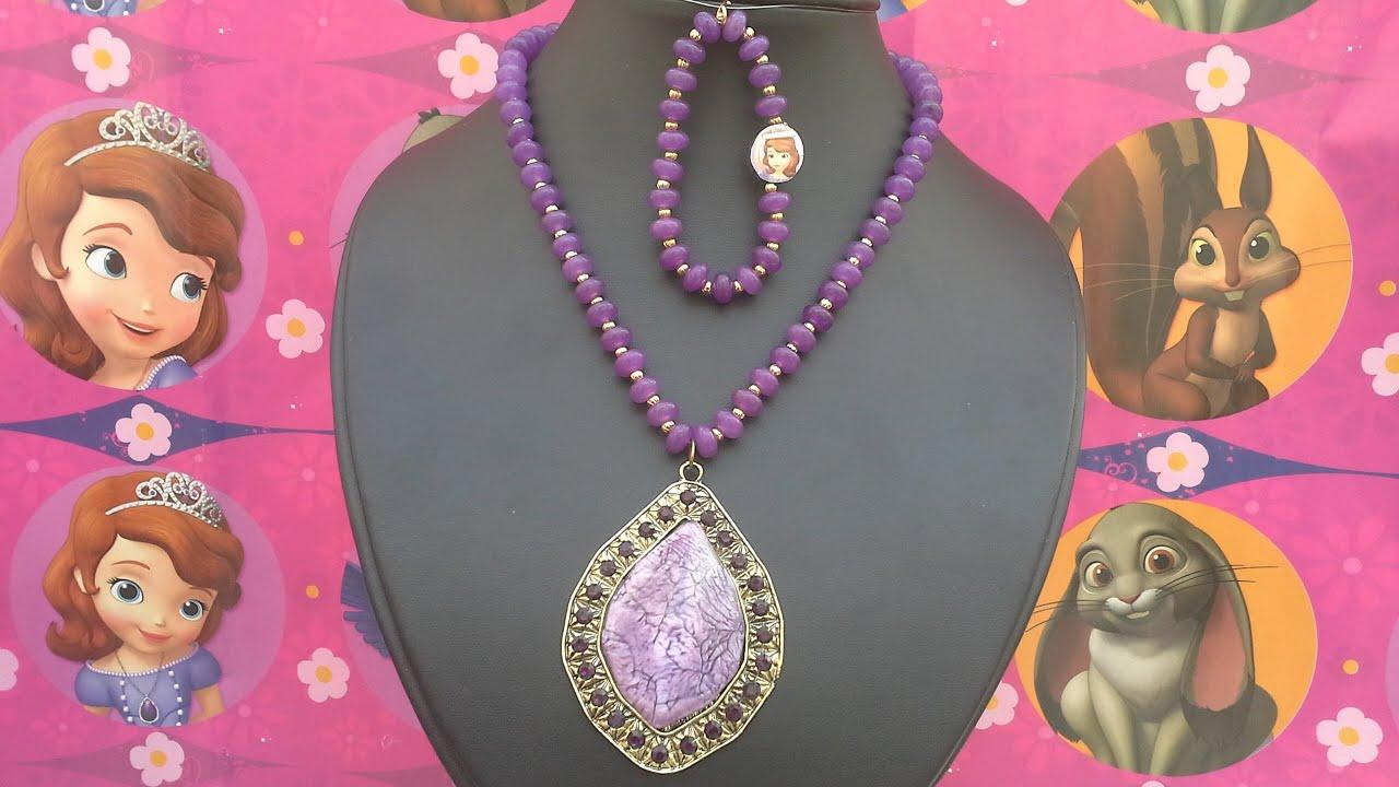 639078cc61d0 Como hacer el collar de Princesita Sofia - YouTube