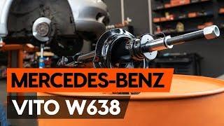 Montering Støtdemper foran MERCEDES-BENZ VITO Box (638): gratis video