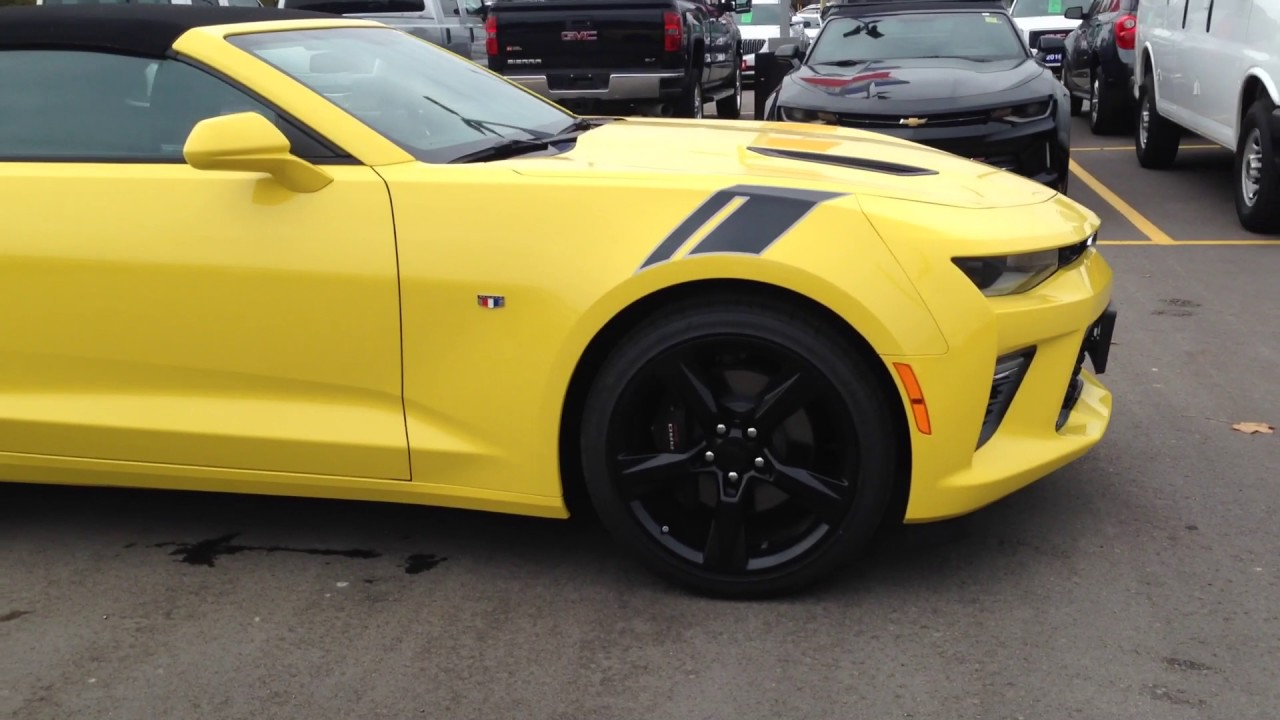 2017 Chevrolet Camaro Convertible Bright Yellow 17 106