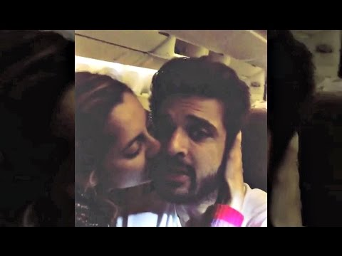 Anusha Dandekar Kissing Karan Kundra In Flight(Video)