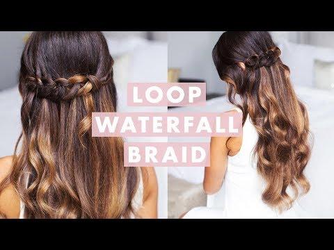 Cute & Easy Loop Waterfall Braid
