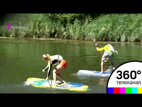 На надувной доске с веслом: в России набирает популярность сапсерфинг
