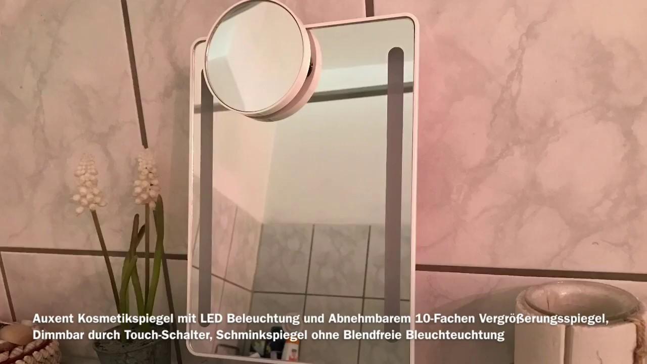 Kosmetikspiegel mit LED Beleuchtung - Schminkspiegel - YouTube
