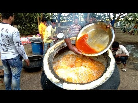 Aloo Mutton Biryani Preparation For Birthday Party   Indian Street Food Kolkata   Street Food India