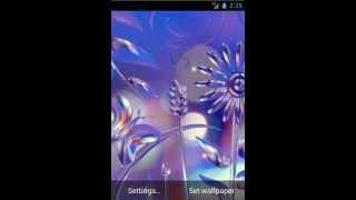 Glass Flowers Live Wallpaper