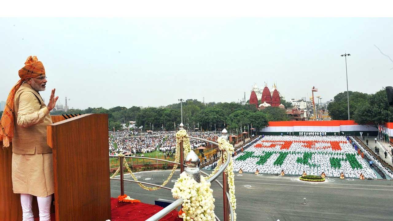 Image result for pm modi red fort