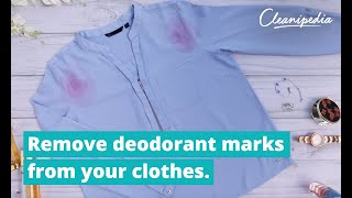 How to remove deodorant marks?