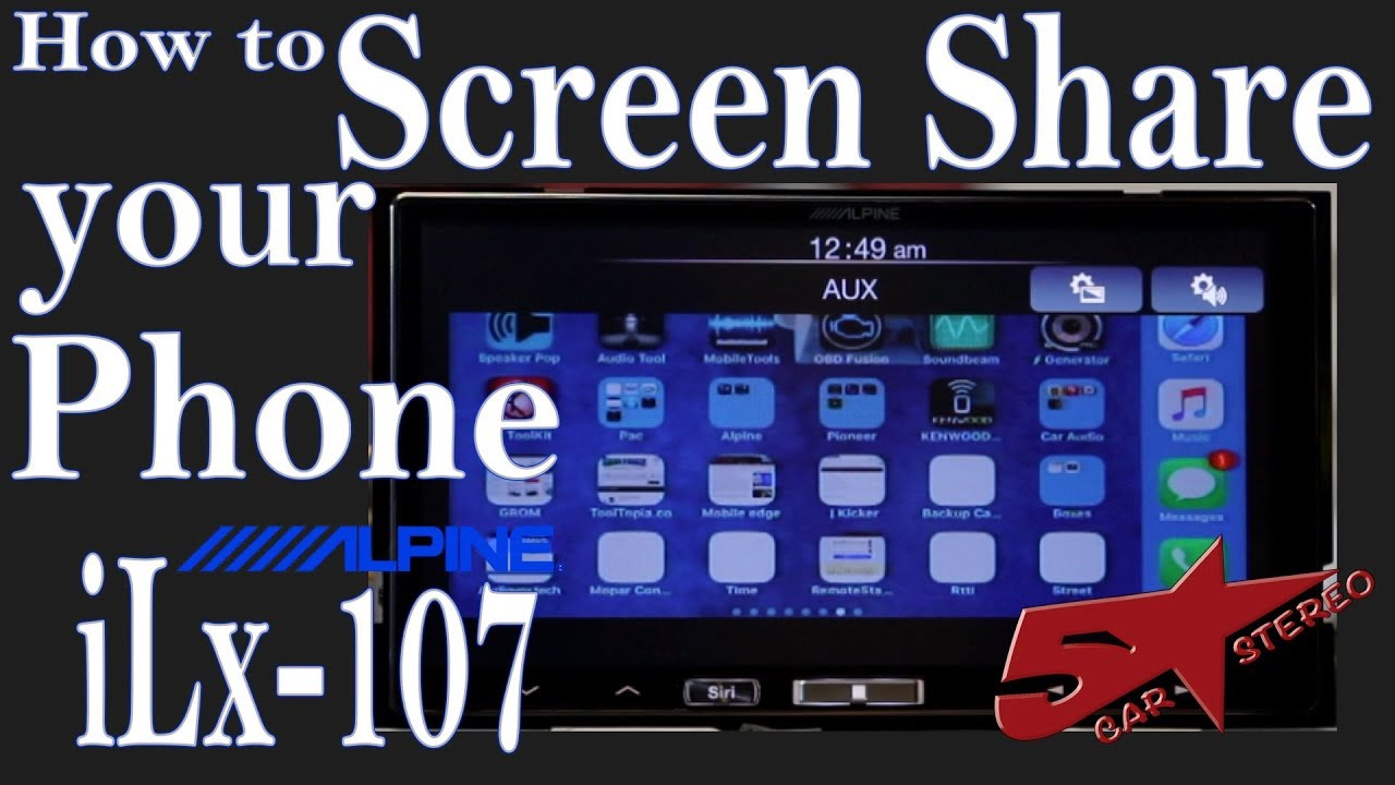 Repeat How to screen share your phone to your Alpine iLx 107