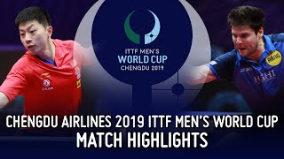 Дмитрий Овчаров vs Ma Long | Men's World Cup 2019 (1/4)