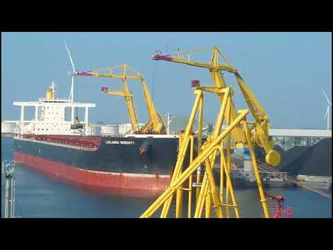 Cargo Unloading from Bulk carrier Using Port Crane