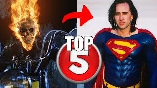 TOP 5 ACTORES DE ADAPTACIONES DE COMICS QUE IBAN A INTERPRETAR OTRO PAPEL