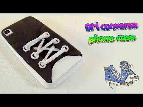 Converse shoe mobile case – DIY Easy crafts – Phone case