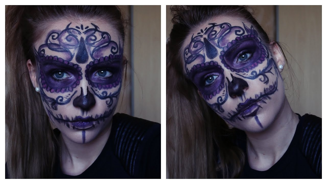 Bevorzugt Sugar Skull makeup # Maquillage Spécial Halloween - YouTube QD57