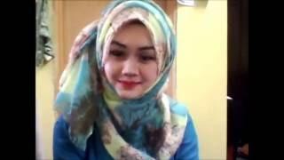 Repeat youtube video Tutorial wide shawl ala arab