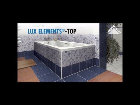 Monter un tablier de baignoire lux elements youtube - Tablier de baignoire a carreler ...