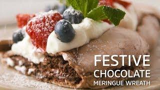 Festive Chocolate Meringue Wreath