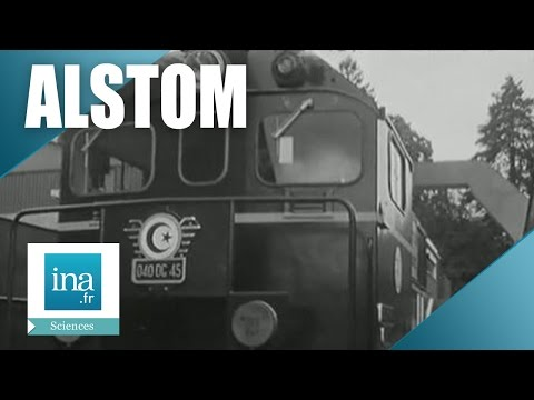 La fabrication des locomotives Alsthom à Belfort   Archive INA