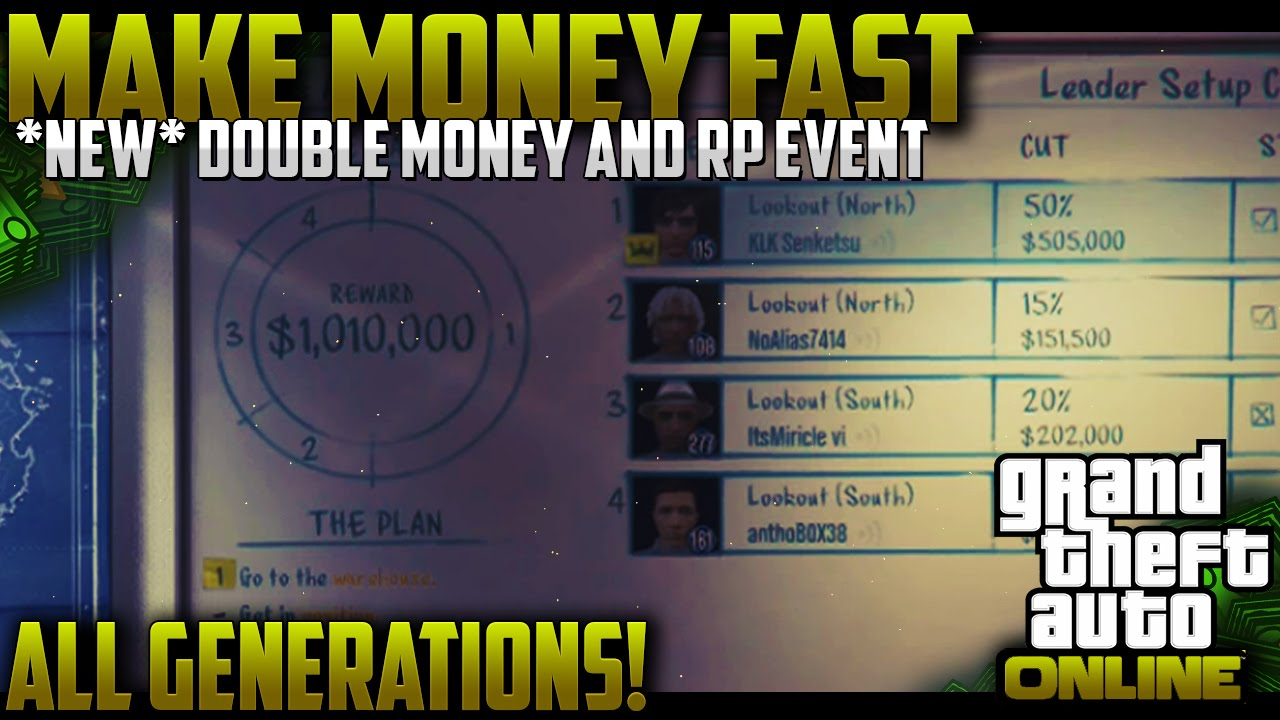 gta 5 online fastest way to make money gta 5 online quot make money fast quot all gen best way to make 1550