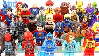 Aquaman Batman Superman Wonder Woman Justice League & Legion of Doom Unofficial LEGO Minifigures