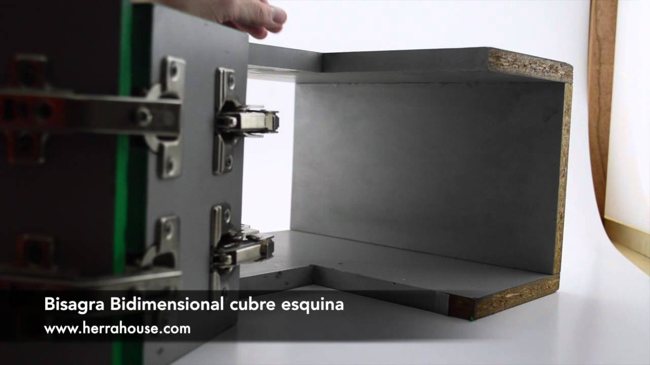 Bisagra Bidimensional Cubre esquina - YouTube