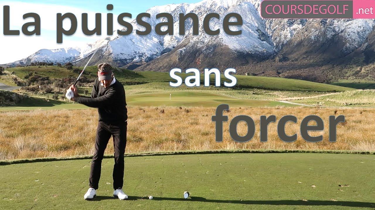 La puissance au golf sans forcer - cours de golf par Renaud Poupard