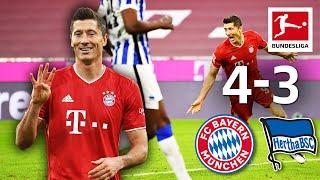Lewandowski x 4(!) | Bayern München - Hertha | 4-3 | Highlights | Matchday 3 - Bundesliga 20/21