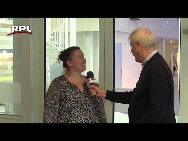 Officiële opening hernieuwde glijbaan BatensteinBad Woerden door Thijs van den End