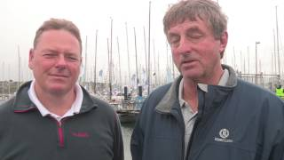 Stuart Childerley and Kelvin Rawlings onJester win the two handed division of the Rolex Fastnet Race