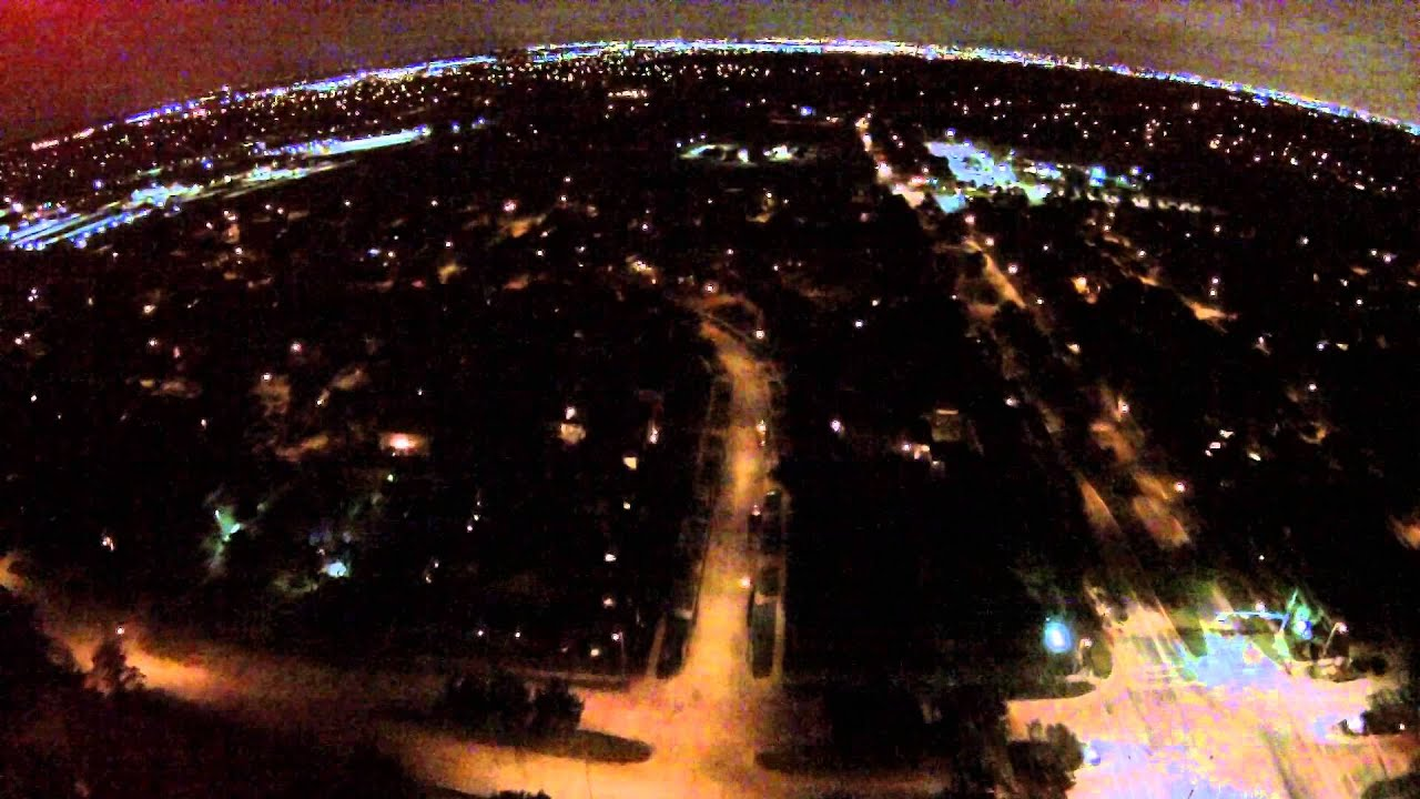 Beautiful Night Time Drone Flight Over My Neighborhood