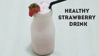 STRAWBERRY LASSI(DRINK)QUICK&EASY/HOW TO MAKE REFTESHING STRAWBERRY LASSI IN URDU/HINDI BY KWF