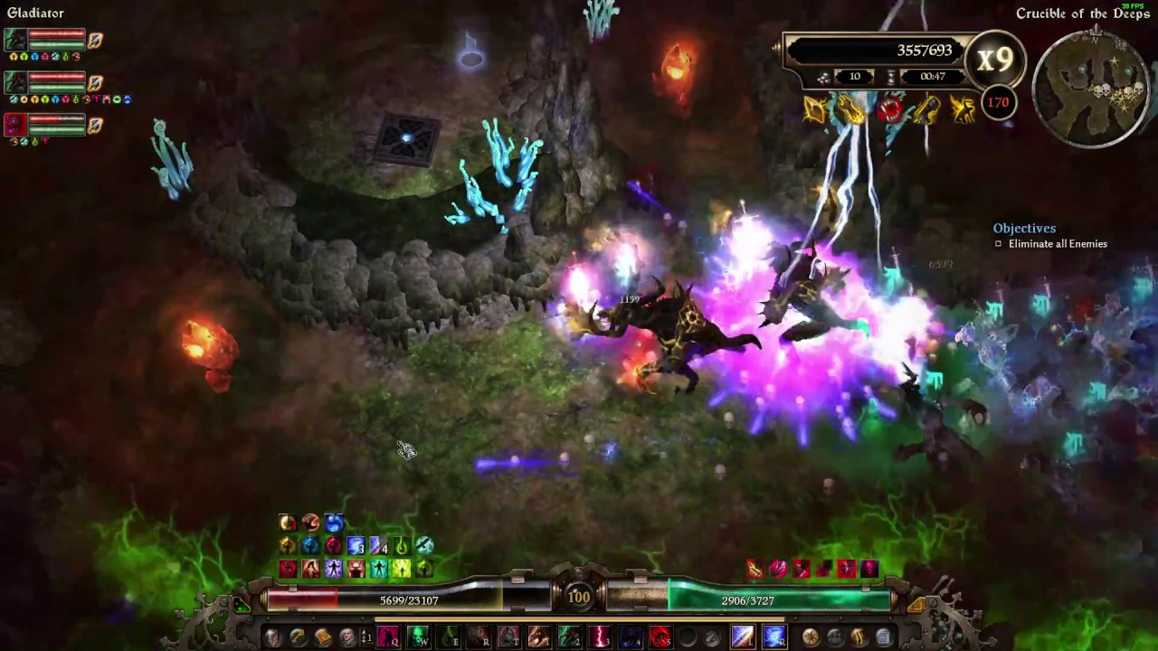 Grim Dawn - Lightning Pet Raven Conjurer (Crucible 170)