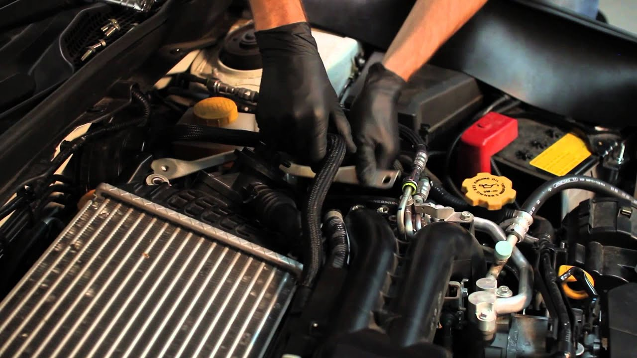 How To Install: Mishimoto 2008  Subaru WRX Throttle Body Hose  YouTube