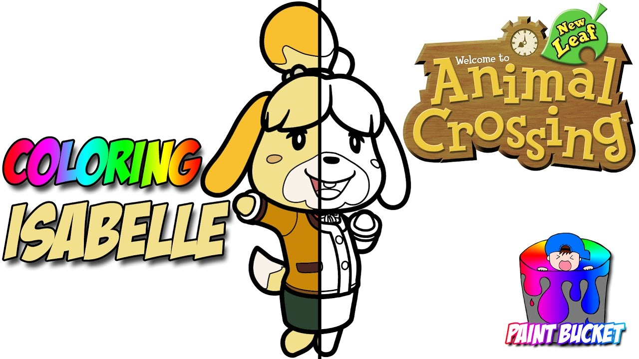 animal crossings isabelle nintendos animal crossing new leaf coloring pages youtube
