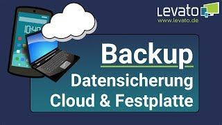 Levato.de | Datensicherung (Backup) auf externer Festplatte oder Cloud