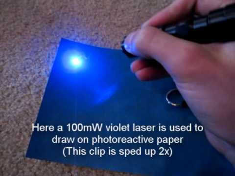 Download High-Powered Laser Draws on Photo-Sensitive Paper