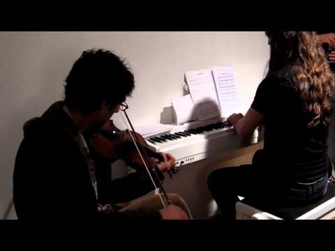Nikos Mavridis - violin and Ardek (Clemens Wijers) - piano playing a Carach Angren medley