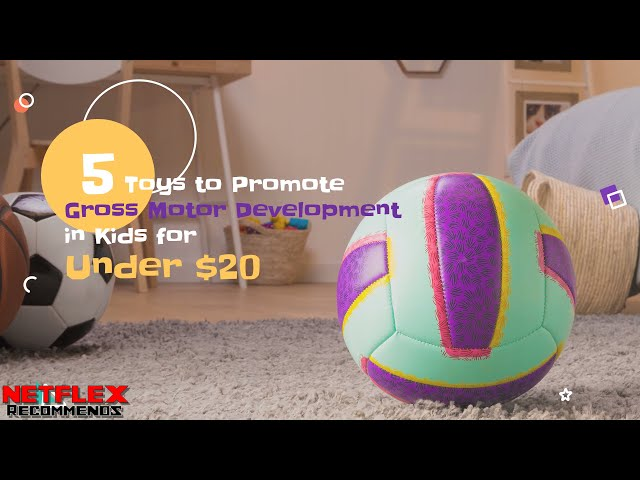 NETFLEX Recommends: 5 Toys to Promote Gross Motor Development in Kids for under $20